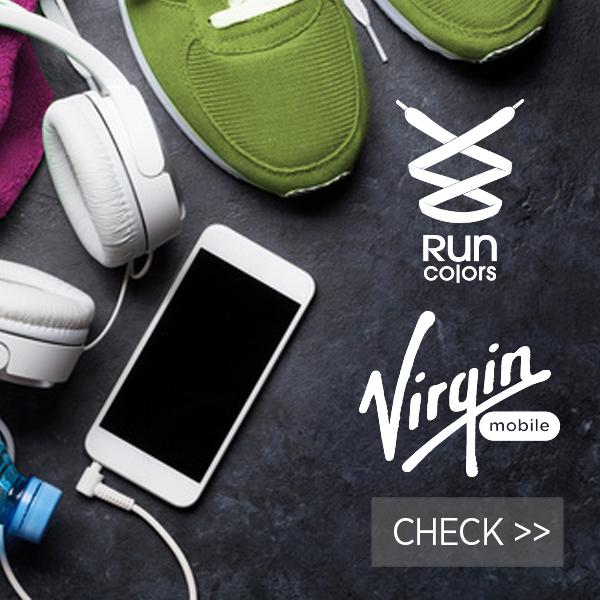Virgin mobile & RUN COLORS